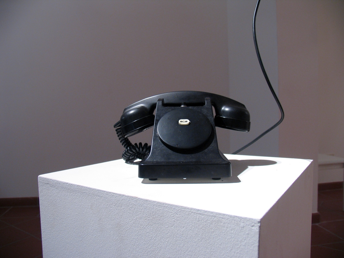 Self-portrait with black telephone
